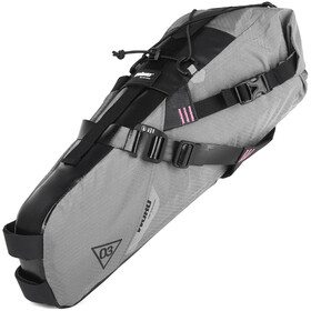 WOHO X-Touring Zadel Dry Bag M, honeycomb iron grey